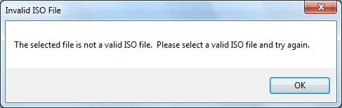 Invalid ISO File